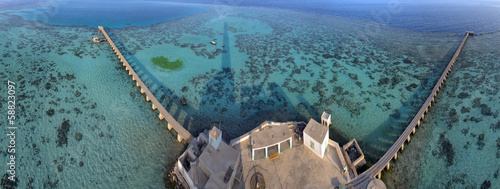 Sanganeb lightouse reef view
