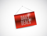 daily deals hanging banner illustration design