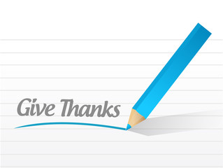 give thanks message illustration design