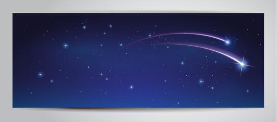 Nachthimmel mit Sternschnuppe - Banner