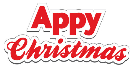 Christmas App Lettering - Appy Christmas promotion at Christmas
