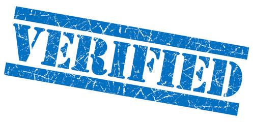 Verified blue grunge stamp