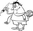 painter artist cartoon coloring page