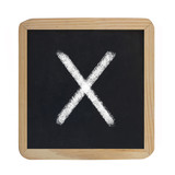 letter X on blackboard