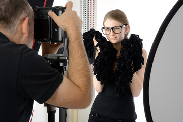 Fotoshooting im Foto-Studio