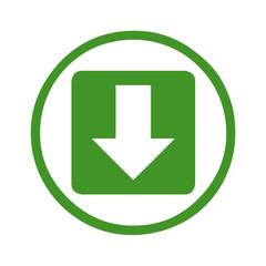 Download Symbol in einem grünen Kreis