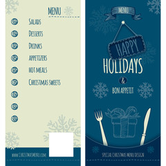 Happy Holiday and Christmas menu