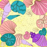 Vector background with colored shell