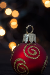 Christmas ornament with lights
