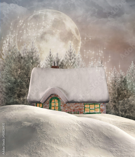 Enchanted winter chalet