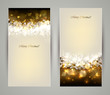 Two elegant Christmas greeting cards