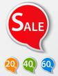 Red sale speech bubble .tags set