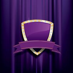 golden purple shield diamonds
