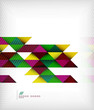 Business geometric shape background - triangles