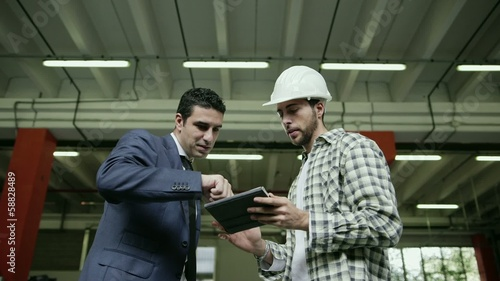 2of19 People working in warehouse, workers in industry
