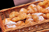 Croissants in basket
