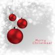 Abstract Christmas globes postcard