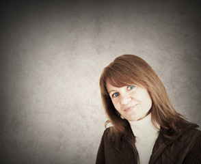 Portrait of a friendly smiling woman
