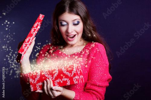 girl with magic box