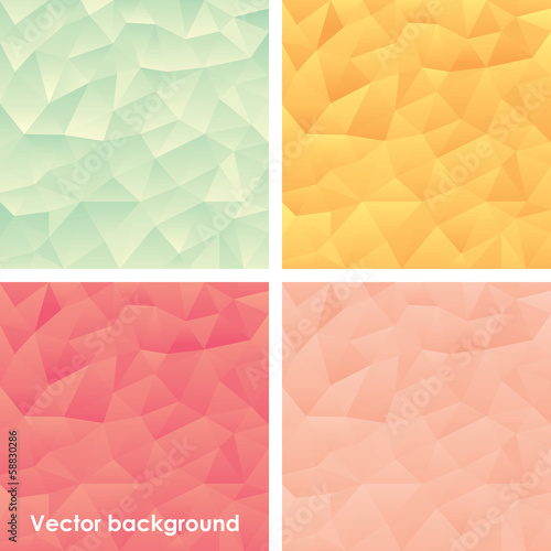 Polygonal background set in candy colors