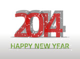2014 happy new year poster or card