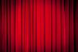 Leinwandbild Motiv Roter Vorhang