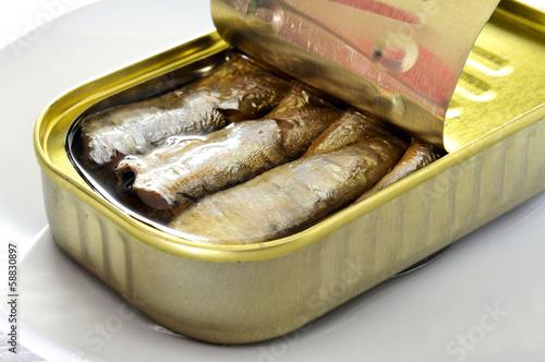Papiers peints Poisson canned sardines