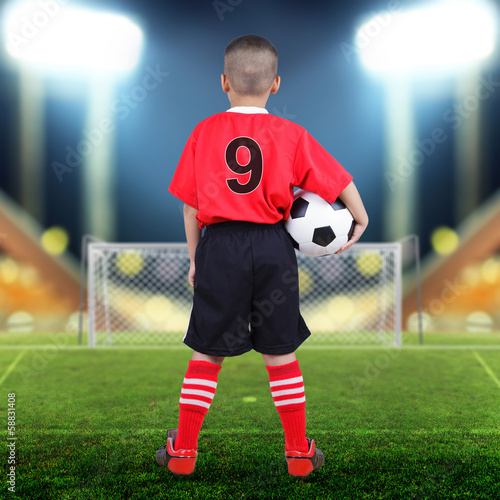 Child soccer player