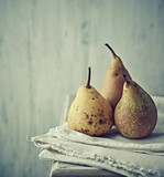 Still life with autumn pears