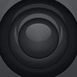 Black metal round shapes