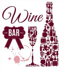 Wine bar menu card....