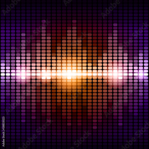Orange and purple digital equalizer background
