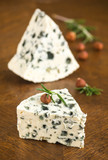 Roquefort cheese, selective focus