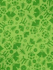 Green Christmas symbols on the wall