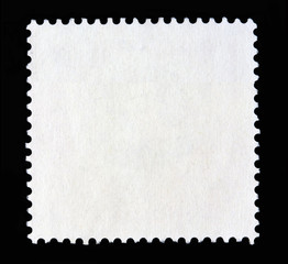 Square white postage stamp shape