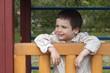 Happy child at playground