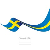 Swedish flag ribbon vector