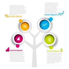 Modern Design Infographics template.