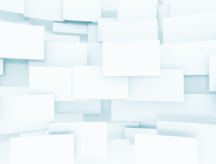 design background of blank 3d squares