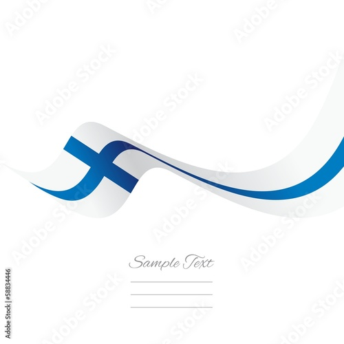 Finnish flag ribbon vector