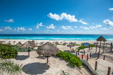 Dolphin Beach panorama, Cancun, Mexico