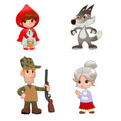 Little Red Hiding Hood's characters.