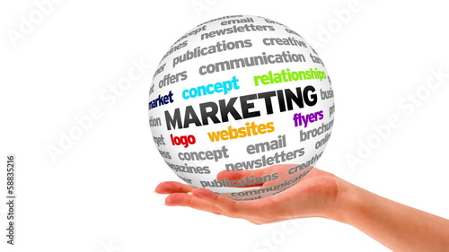 A person holding a 3D Marketing Sphere
