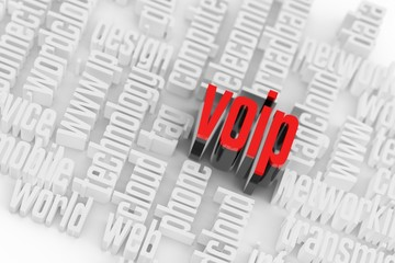 3d VOIP Wordcloud Internet Concept