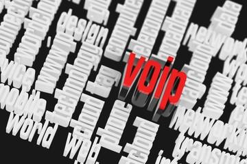 3d VOIP Wordcloud Internet Concept