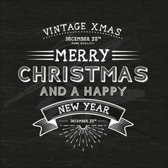 Vintage Christmas Message