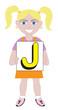 Letter J Girl
