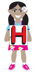 Letter H Girl