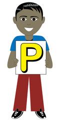 Letter P Boy