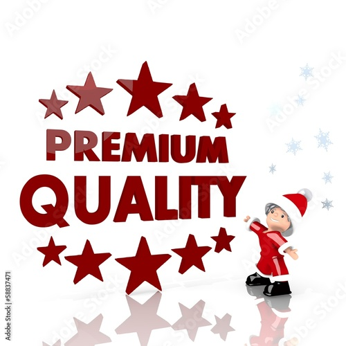 mini santa claus with giant premium quality label